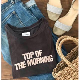 トゥデイフル(TODAYFUL)のTODAYFUL ROY's Tシャツ ロゴT ヴィンテージ シンプル 墨黒 夏(Tシャツ(半袖/袖なし))