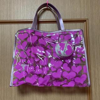 シマムラ(しまむら)の新品タグ付☆透明バッグ ミニポーチ付 ハート(トートバッグ)