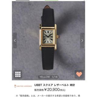 ユナイテッドアローズ(UNITED ARROWS)のUNITED ARROWS スクエアーレザーウォッチ(腕時計)