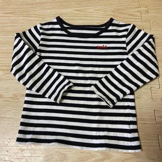 エックスガール(X-girl)の90cm   x-girl ボーダー ロンティー(Tシャツ/カットソー)