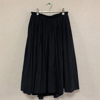 デミルクスビームス(Demi-Luxe BEAMS)のDemi-Luxe BEAMS   タイプライター ギャザースカート 黒(ロングスカート)