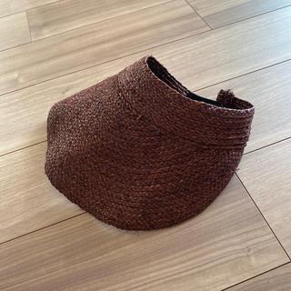 ムジルシリョウヒン(MUJI (無印良品))の無印良品 MUJI ラフィア サンバイザー 帽子(麦わら帽子/ストローハット)