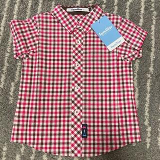ファミリア(familiar)のfamiliar 新品チェックシャツ(シャツ/カットソー)