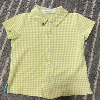 ファミリア(familiar)のfamiliar ギンガムチェックシャツ(シャツ/カットソー)