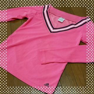 アディダス(adidas)のadidas♡MピンクV首長袖テニスUV(ウェア)