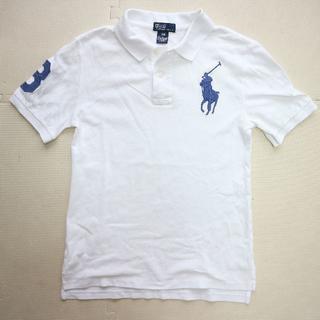 POLO RALPH LAUREN - POLOラルフローレン 150cm/半袖ポロシャツ/ビックロゴ/白