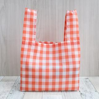 レジ袋型エコバッグ・コンビニ用サイズ オレンジ白タグ(バッグ)