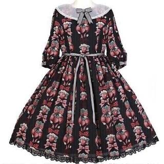 Angelic Pretty - Strawberry doll ワンピース クロ