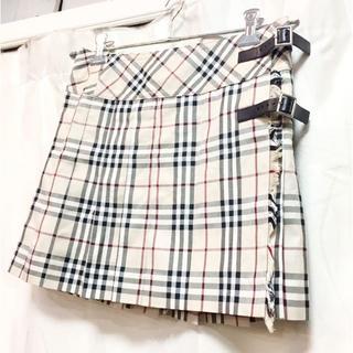バーバリーブルーレーベル(BURBERRY BLUE LABEL)のバーバリー チェック 巻きスカート 18615961(ミニスカート)