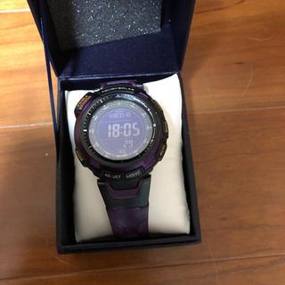 カシオ(CASIO)のプロトレックPRG-110CJ むらさき(腕時計(デジタル))