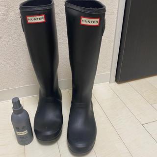 ハンター(HUNTER)の美品 ハンター レインブーツ 24cm(レインブーツ/長靴)