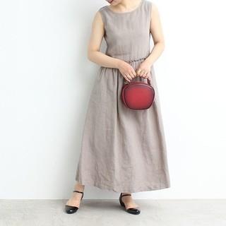 Dot&Stripes CHILDWOMAN - 【WEB限定商品】リネン製品染め ノースリロングワンピース