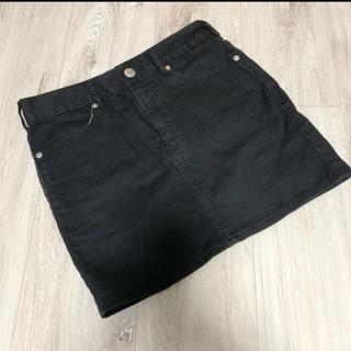 ユニクロ(UNIQLO)のコーデュロイスカート ミニスカート デニムスカート(ミニスカート)