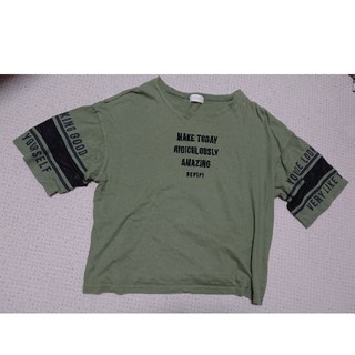 repipi armario - repipi armario 袖メッシュTシャツ