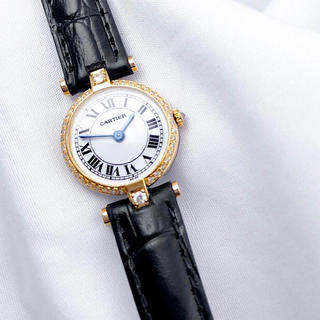 Cartier - 【OH済】カルティエ ヴァンドーム ミニ ゴールド ダイヤ レディース 腕時計