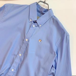 MAISON KITSUNE' - 定価3万以上 maison kitsune fox刺繍シャツブルー新品 タグあり