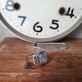 新品未使用 19号  シルバー 小ホワイトリング(リング(指輪))