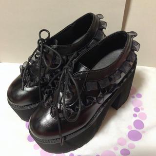 ロジータ(ROJITA)のROJITA フリル厚底シューズ(ローファー/革靴)