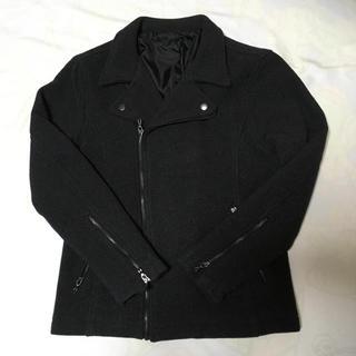 zip five ダブルライダースジャケット ブラック カジュアル バイク(ライダースジャケット)