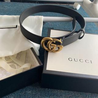 Gucci - Gucci★GGバックル レザーベルト3cm幅