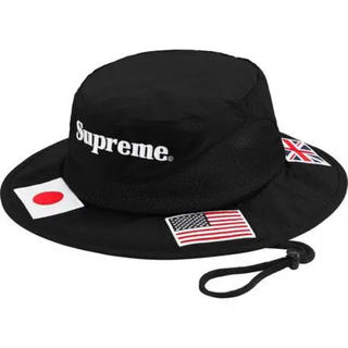 Supreme - Supreme Flags Boonie Black S/M ハット 20ss