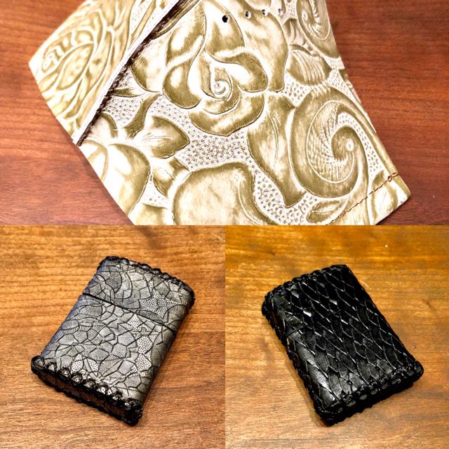 ZIPPO(ジッポー)のジッポケース2点&レザー マスク白薔薇 メンズのファッション小物(タバコグッズ)の商品写真