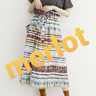 merlot - メルロー マルチボーダータイスカート