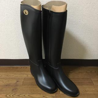 ダフナ(Dafna)の【DAFNA】ダフナ/ロングレインブーツ/23.5/ブラック(レインブーツ/長靴)