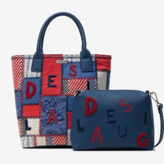 DESIGUAL - 新品 デシグアル タグ付き♪ 未開封‼️ パッチワークが可愛いポシェット付バッグ