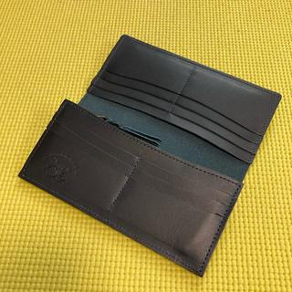 新品未使用!革蛸スリムロングワレット ネイビー(長財布)