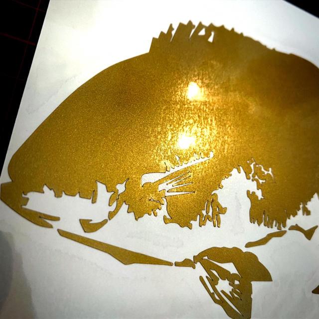 《ゴールドグレ》釣りステッカー 尾長 スポーツ/アウトドアのフィッシング(釣り糸/ライン)の商品写真