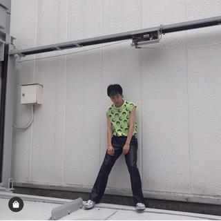 バブルス(Bubbles)のfaithtokyo smile art no sleeve tee パープル(Tシャツ/カットソー(半袖/袖なし))
