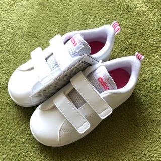 adidas - 新品 タグ付き adidas キッズ ホワイト×スーパーピンク BB9980