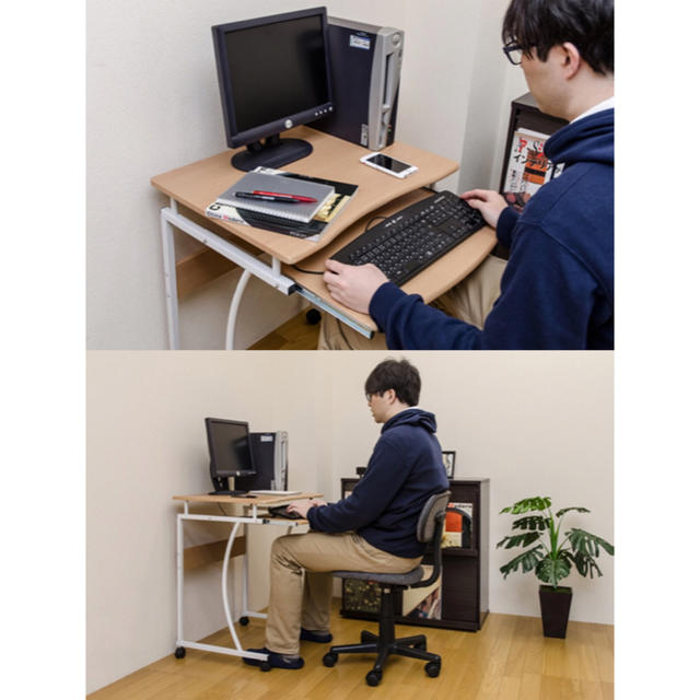 パソコン デスク コンパクト おしゃれなデザインからコンパクトタイプまで!自宅用におすすめのパソコンデスク10選|@DIME アットダイム