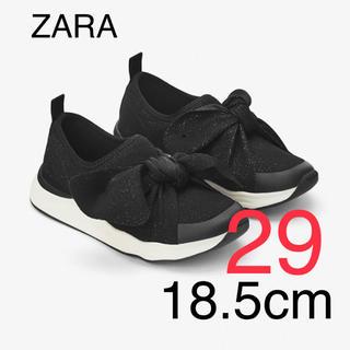 ZARA KIDS - ZARA ザラ 新品 ZARAkids リボン スニーカー 18.5cm