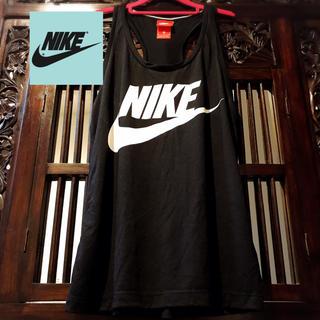 NIKE - ナイキ NIKE ビッグロゴ 黒 タンクトップ Tシャツ