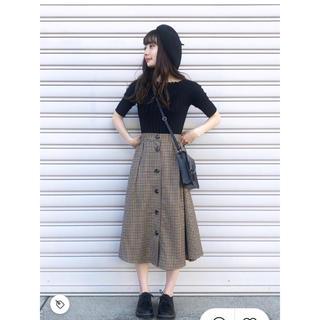 GU - ガンクラブチェックフロントボタンスカート XS