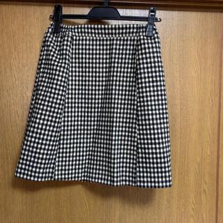 スナイデル(snidel)の♡スナイデル♡レディースチェック柄ミニスカート♡黒×オフホワイト系♡(ミニスカート)
