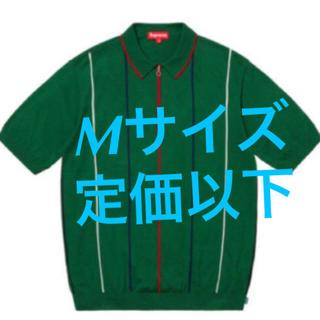 シュプリーム(Supreme)の【Mサイズ】 Supreme Pinstripe Half Zip Polo (ポロシャツ)