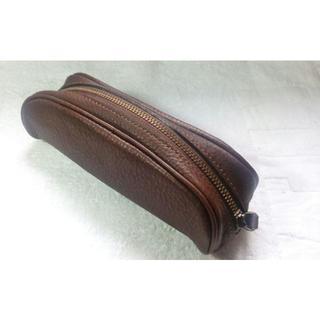 ツチヤカバンセイゾウジョ(土屋鞄製造所)の土屋鞄 トーンオイルヌメ オーバルペンケース(ペンケース/筆箱)
