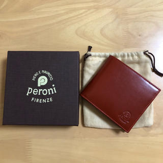 ペローニ(Peroni)の『未使用品』Peroni ペローニ 小銭入れ付 レザー 二つ折り財布(折り財布)