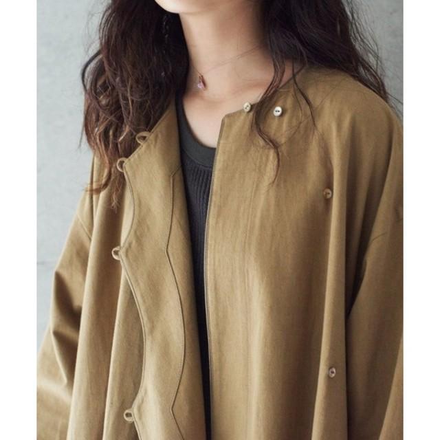 note et silence(ノートエシロンス)のrukkilill C/L パナマクロス オリエンタルコート レディースのジャケット/アウター(ノーカラージャケット)の商品写真