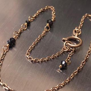 アガット(agete)のアガット K10 ブラックダイヤ ブレスレット  (ブレスレット/バングル)