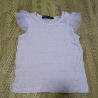 スタジオミニ(STUDIO MINI)のstudio mini 肩チュールノースリーブ90(Tシャツ/カットソー)
