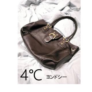 ヨンドシー(4℃)の【美品】4℃ トートバッグ(ブラック)(トートバッグ)