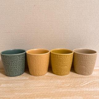 イデー(IDEE)のバーズワーズ PATTERNED CUP    IDEE 4個セット 美品(グラス/カップ)