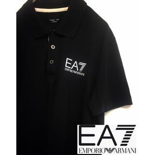 Emporio Armani - エンポリオアルマーニ EA7 ポロシャツ 黒 S~M  ARMANI