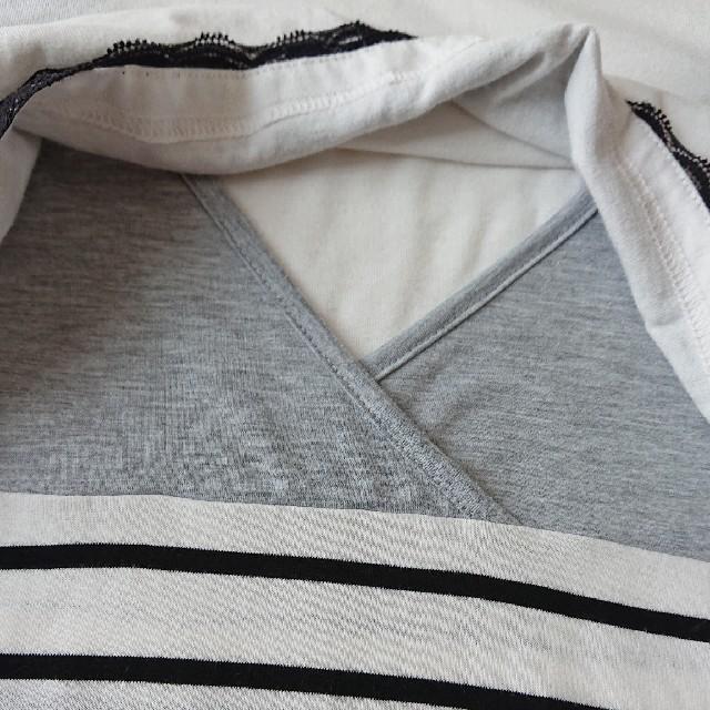授乳服 トップス L パジャマ キッズ/ベビー/マタニティのマタニティ(マタニティトップス)の商品写真
