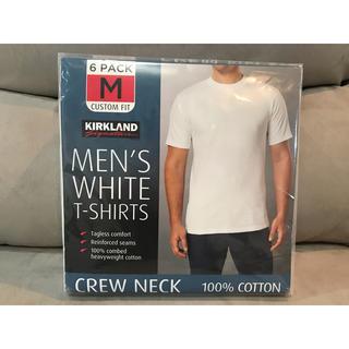 コストコ - 【6枚セット】KIRKLAND カークランド/無地Tシャツ 白シャツ Mサイズ