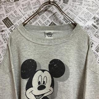ディズニー(Disney)の【希少】90s Disney スウェット トレーナー ミッキーマウス 古着男子(スウェット)